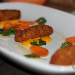 Croqueta – chicken and truffle croquetas, carrot puree, parsley salad