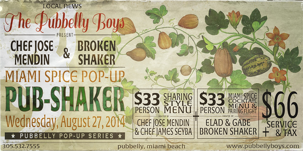 Pub-Shaker Miami Spice Pop Up