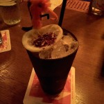 Da Mickey Finn Bird - hibiscus grenadine, averna amaro, cynar, citrus, shaken with black strap rum