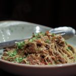 Beef Short Rib Kare Kare - hong kong noodles, peanut & thai chili relish